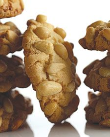 These Italian cookies are rolled in pine nuts. - a super tasty cookie but can be pricey to make.