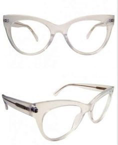 19 Essential Statement-Making Glasses Frames - And this transparent cat eye is equal parts retro and futuristic. Fashion Eye Glasses, Cat Eye Glasses, Cute Glasses, Glasses Frames, Rose Gold Glasses, Computer Glasses, Eye Frames, Prescription Sunglasses, Sunglasses