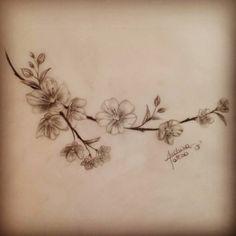 Sakura flowers tatoo