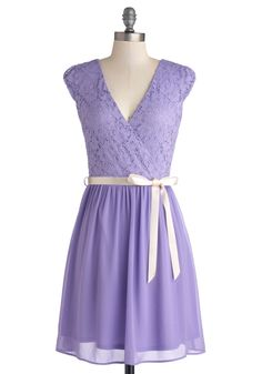 Beautifully Bubbly A-Line Dress in Lavender, #ModCloth