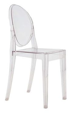 Chaise empilable Victoria Ghost transparente / Polycarbonate Cristal - Kartell