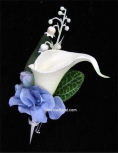 Buttonierre white-tulip