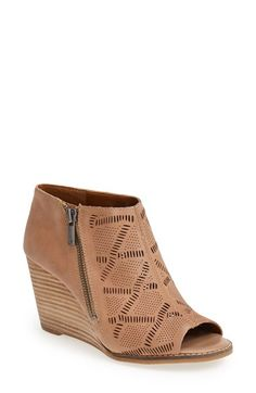 Lucky Brand 'Jaspah' Peep Toe Wedge Bootie (Women) available at #Nordstrom