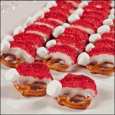 Santa Hat Pretzels | Smart Weigh Nutrition