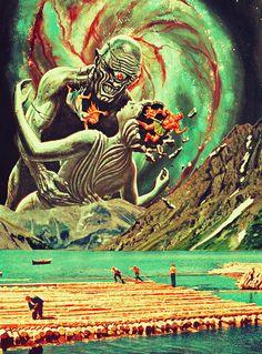 The Fantasy Of Life. #collage #scifi #fantasy