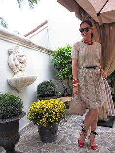 September 28, 2012  http://www.akeytothearmoire.com/post/32458389135/leos-geminis  #coral #beige #red #Carolee #ivory #Ralph Lauren #Banana Republic #Longchamp #Planetes #Isaac Mizrahi #Bow Belt #Black