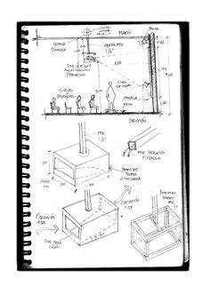 detalles constructivos montaje de pantalla, tinta/ construction details for T.V. screen placement, ink Gmo.L.09