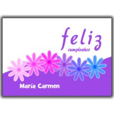30 best spanish greeting cards cardsbyjules images on pinterest in feliz cumpleaos purple flowers personalized card m4hsunfo