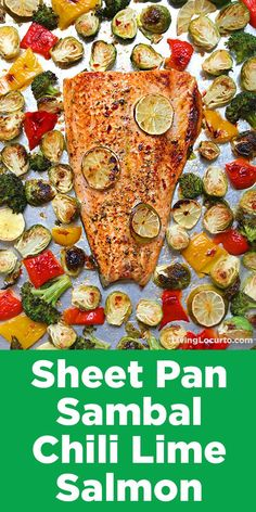 Fun new easter egg hunt ideas and the cutest giant easter basket sheet pan sambal chili lime salmon with brussels sprouts get ready for the best 10 minute sheet pan salmon dinner recipe ever sambal chili lime salmon negle Image collections