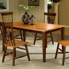 Camden 7 Piece Solid Leg Top Table Dining Set by Entree Casual Dining. $921.93. CAM Solid Leg Top Dining Set Features: -Seats up to six people.-Perfect for a growing family.-Optional server comes with two drawers and two doors - perfect for storing all your tableware. Includes: -Includes: Leg table, four side chairs, and the option of an additional two side chairs and server. Construction: -Solid wood construction. Color/Finish: -Chestnut and Honey finish. Dimens...