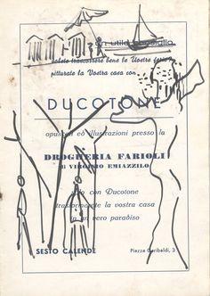E. Besozzi pitt. s.d. (1957) Figura pennarello su carta cm. 24,5x17,1