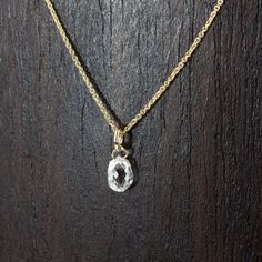Diamond briolette necklace .45ct.50ct EF VS by EnveroJewelry