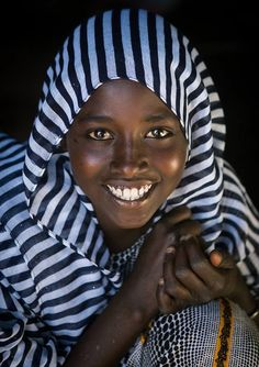 Portrait of an afar tribe teenage girl, Afar region, Afambo, Ethiopia | by Eric Lafforgue