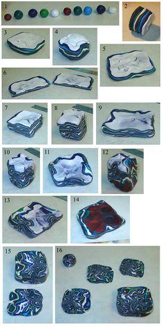polymerclayfimo: Урок - Ручное мокуме