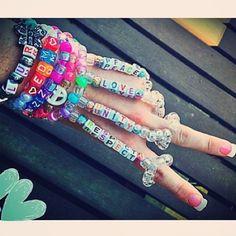 EDM World Magazine Kandi Pick Plur bracelet. I love this!!!!!!! Check out www.edmworldmagaz... to see the latest issue! #edmlife #kandi #plur