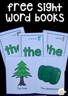 Free sight word books for the word