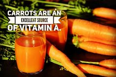 vitamin A in #carrots helps sharpen night vision; also rich in fiber and beta-carotenes. #gonatural #healthy #SmartChoice