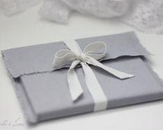 Embalaje  5 sobres de tela de lino  natural lino por RosellasLane
