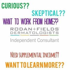 Are you on the fence about joining my team? JUMP OFF that fence! Let me tell you why you should... 1. GROUND FLOOR opportunity, which means A LOT of room to GROW! 2. NO parties OR inventory, unless YOU CHOOSE to! 3. Get paid to use INCREDIBLE clinically proven skincare products... and thats just a few reasons. Contact me to learn more: mitzknight@gmail.com  or  shop: www.mknight1.myrandf.com/shop