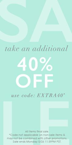 Amazing sale at Gorjana - take an extra 40% off sale items with code:  EXTRA40 http://rstyle.me/n/rpr2nyg6