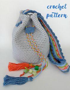 bolso IRIS para niña de crochet / Crochet IRIS bag