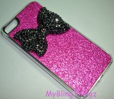 For+iPhone+5++BIG+Black+Crystal+Bling+Cute+Bow+on+by+MyBlingThingz,+$18.95