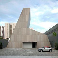 Ouvidor Showroom in Fortaleza, Brazil Contemporary Architecture, Art And Architecture, Showroom, Space Place, Commercial Architecture, Interior And Exterior, Interior Design, Brazil, Facade