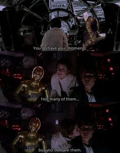 I love Han and Leia.