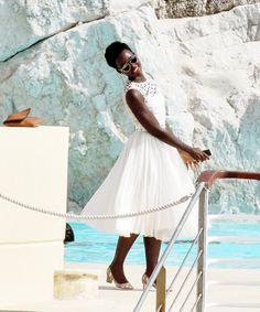 Lupita Nyong'o at the Hotel du Cap-Eden-Roc