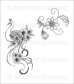 Peacock Swirls Cling Stamp Set: click to enlarge
