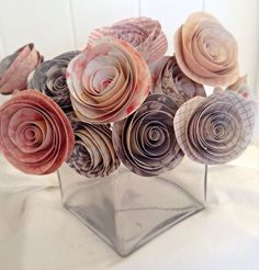 Paper flowers. Paper roses. Pink roses. wedding centerpieces. bridal bouquet. Wedding bouquet. Valentines day. Mothers Day Gift. Mothers Day