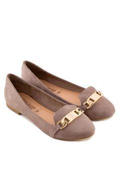 NEW LOOK Chain Tab Slipper Shoes 扣飾平底鞋 (HKD 289.00)
