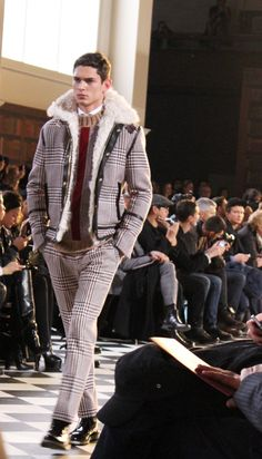 """c/o @Leslie Rash Berckes Berlinettes:  """"I personally had a big crush on the bags and on the bomber and motorcycle jackets that gave the collection a rock'n'roll touch."""" Fall 2013 #tommyfall13 #nyfw #menswear"""