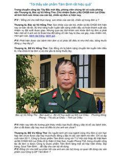 """""""Tôi thấy sản phẩm Tâm Bình rất hiệu quả"""" by Dược Phẩm Tâm Bình via slideshare"""