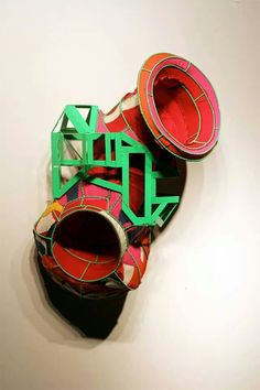 Untitled #3, 2014, Steel, canvas. 40 x 26 x 22 inches. By artist Chad Waples