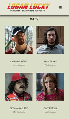 Logan Lucky, Riley Keough, Adam Driver, Channing Tatum, It Cast, Twitter