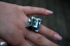 Bismuth Crystal Ring Beautiful Iridescent by bismuthcrystalarts, $19.99