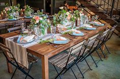 DIY Ideas For a Fall Wedding Tablescape: For an inexpensive and easy touch, this wedding used Fall veggies to top each plate!  Photo by Fonyat Photography via Green Wedding Shoes