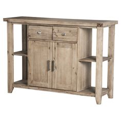 Crafted from acacia and showcasing a natural finish, this country-chic buffet offers ample storage space for table linens and flatware in the dining room or ...