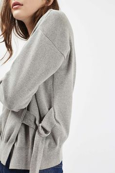 Long Sleeve D-Ring Wrap Sweatshirt - New In This Week - New In - Topshop