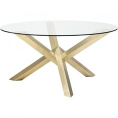 Costa Dining Table Gold Nuevo Living