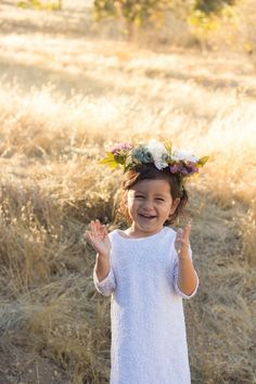 Ava and her flower crown