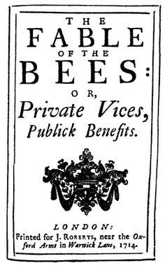 La fbula de las abejas de Bernard Mandeville