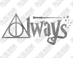 Always Harry Potter Cut File Set in SVG, EPS, DXF, JPEG, and PNG