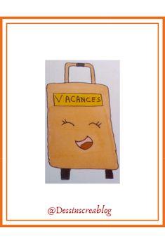 Vente-Large Couleur 26 cm en vacances d/'été sur le thème de Valise Box