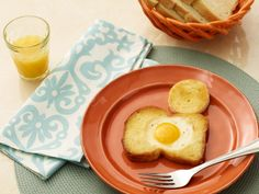 Egg-in-a-Hole from Pioneer Woman.  very good!  Big hit with the kids (and Husband)!  Great on the griddle when camping in the RV!   Use Texas toast and top with your favorite cheese!
