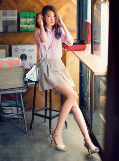 【着まわしday11】ピンクリネンシャツ×ふわキュロット | ファッション コーディネート | with online on ウーマンエキサイト