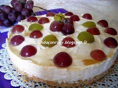 Cheesecake all'uva e sciroppo d'acero