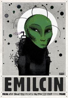 Graphic Art, Graphic Design, Ufo, Typography Prints, Vintage Travel Posters, Surrealism, Poland, Fine Art, Wall Art