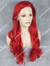 """W12 26"""" Extra Long #3100 Red Wig Body Wave Front Lace Synthetic Hair Wig Japan…"""